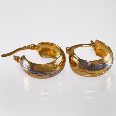 Two-Tone Hoop Earrings 24836010