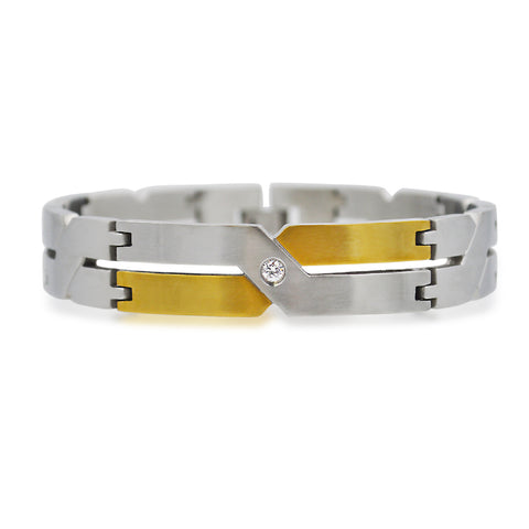 Elegant two-tone design bracelet
