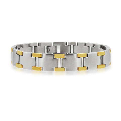 Sophisticated two-tone design bracelet