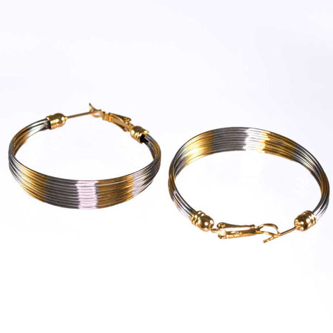 Two-Tone Hoop Earrings B-21421