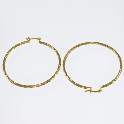 Twist Hoop Earrings BRG-348