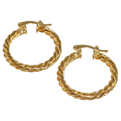 Twisted Hoop Earrings BRG-363
