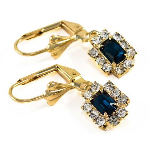 Women's gold-filled earring with stones 0411070