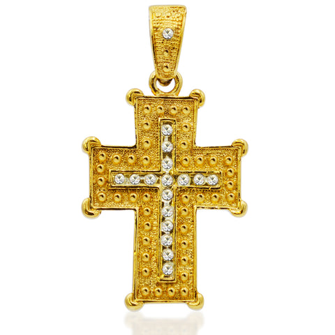 Majestic Cross with Crystals Charm