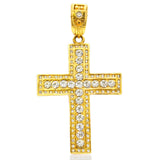 Stylish Large Cross with Crystals Charm
