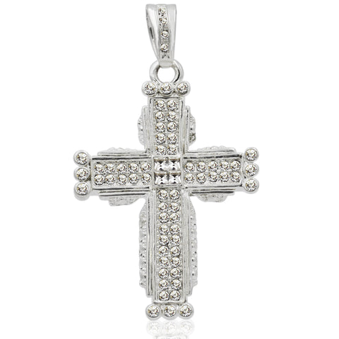 Voguish Cross with Crystals Charm