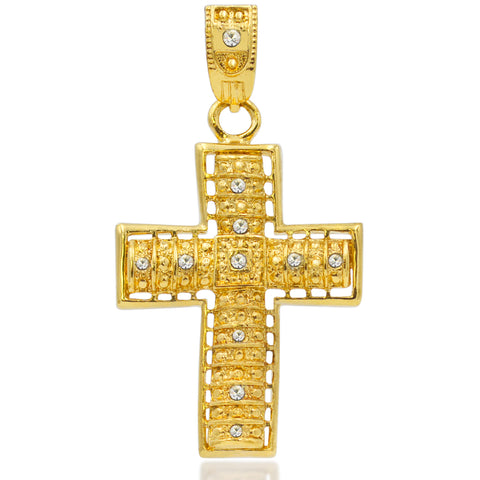 Cross with Crystals Charm