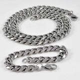 Men's Set, Stainless Steel Necklace & Bracelet #1241