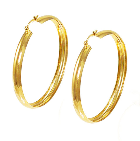 "Hoop Earrings, 2.25"" Wide"