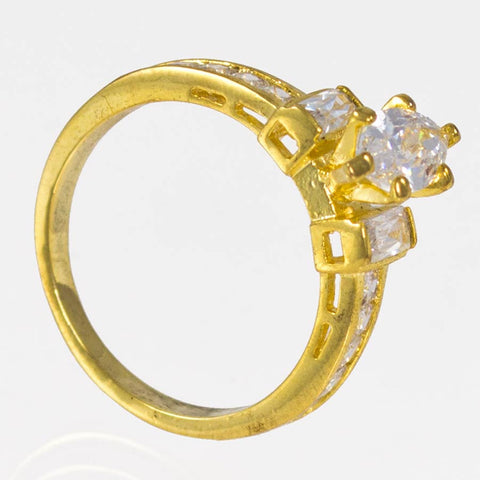 Woman's gold-layered ring 18KGPIRP CZ