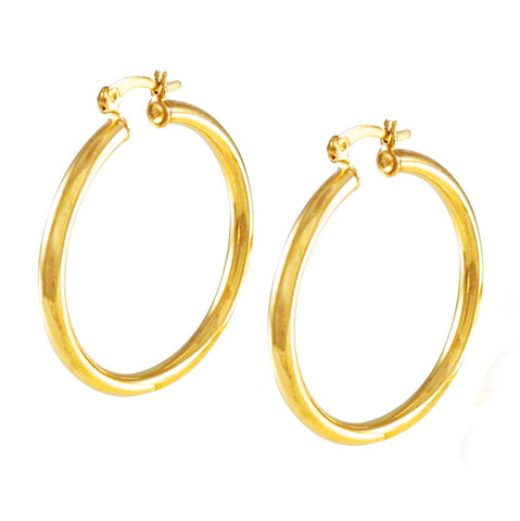 Medium Tubular Hoop Earrings