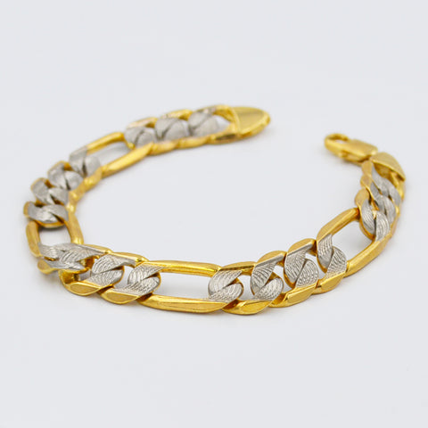 Bold two-tone Chain bracelet