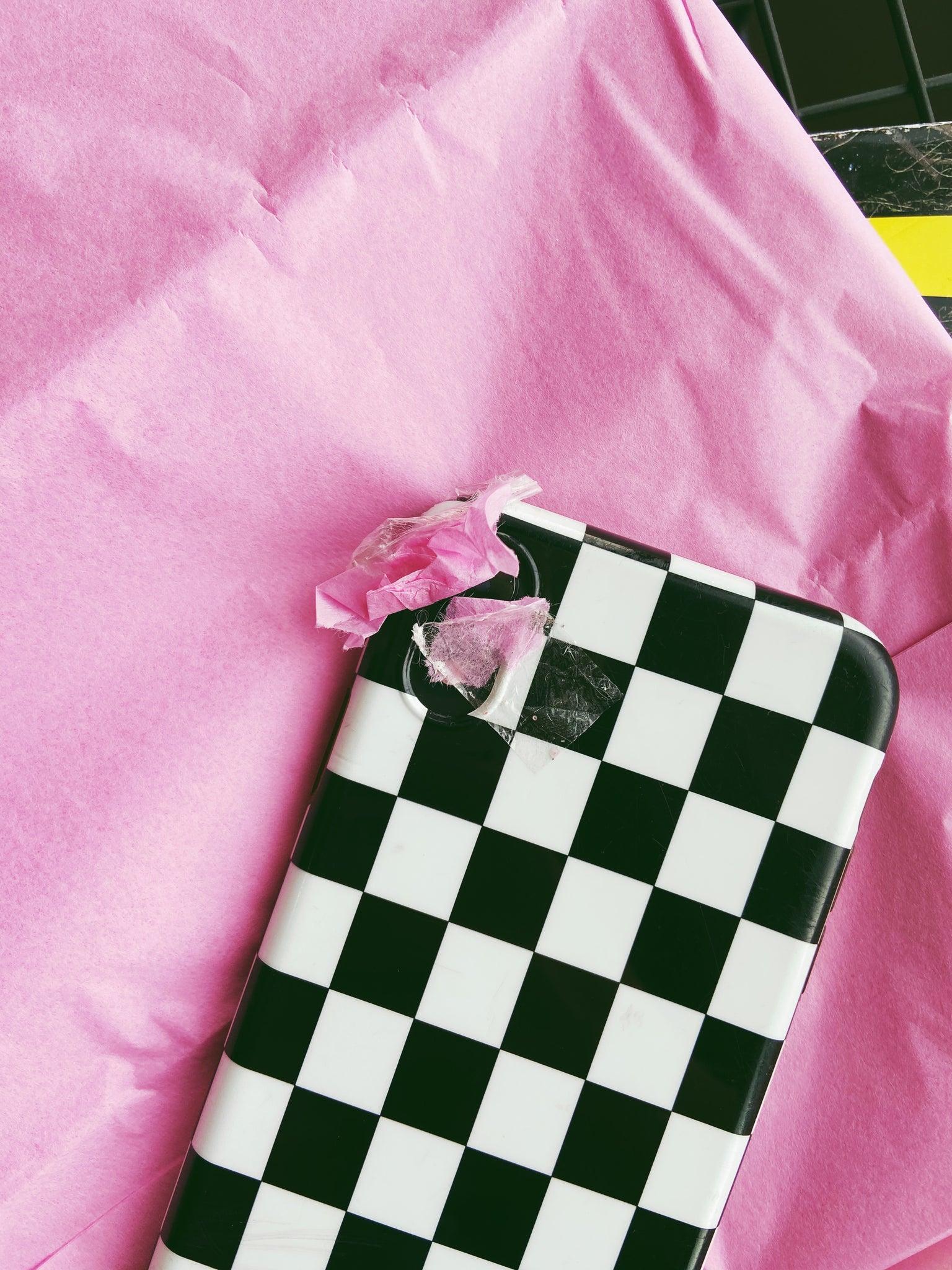 checker wrapping paper