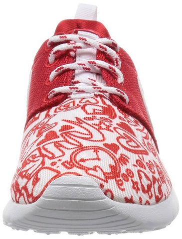 8a8be0ceb04f Nike ROSHE ONE PRINT (GS) girls running-shoes RED WHITE-BLACK 677784 ...