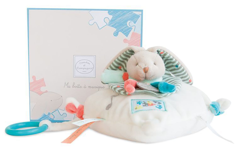 DOUDOU - COUSSIN MUSICAL LAPIN HAPPY