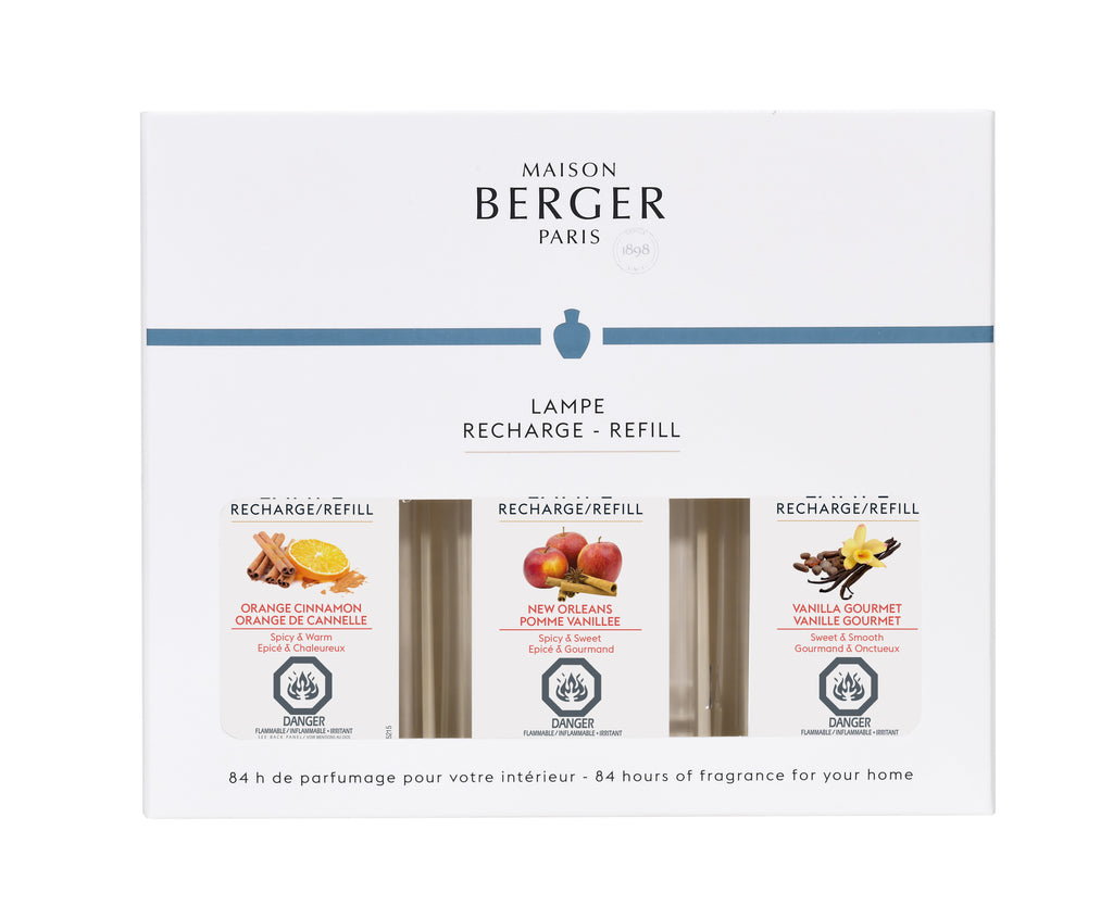 LAMPE BERGER - PARFUM TRIO CHAUD 3 X 180ML
