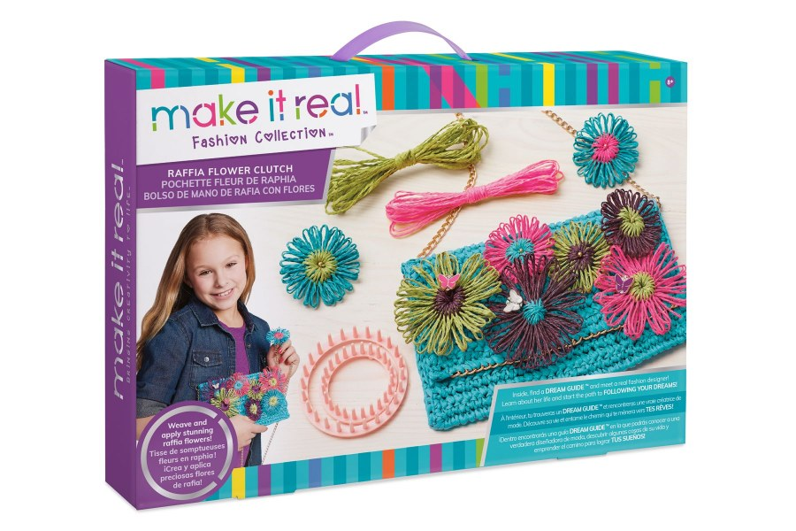 MAKE IT REAL - POCHETTE FLEUR RAPHIA