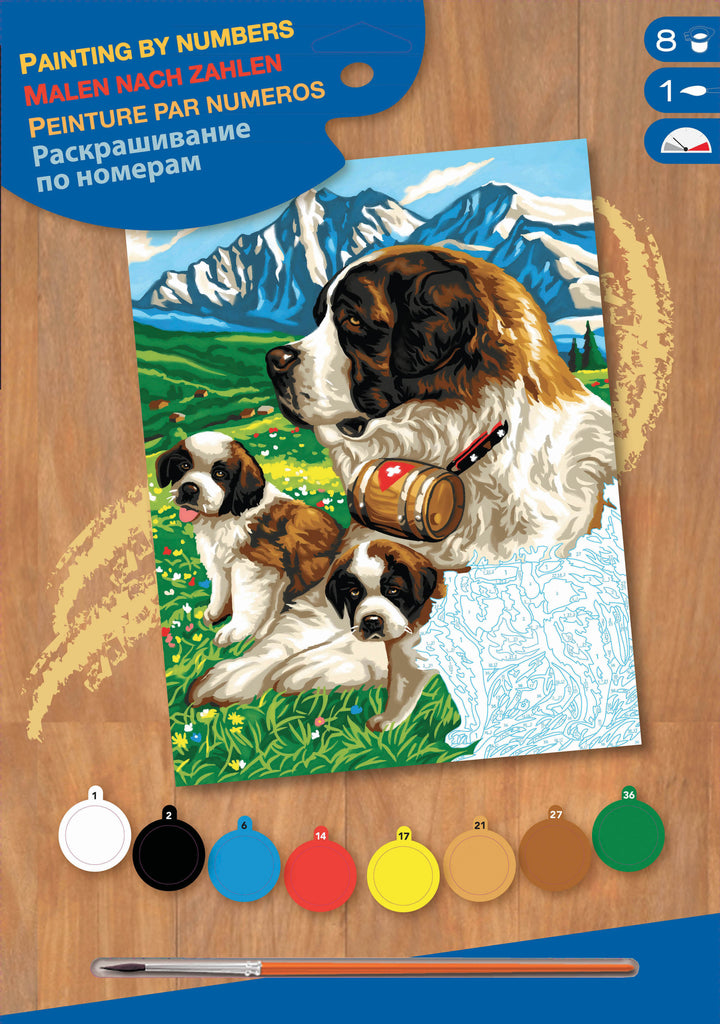 SEQUIN ART - PEINTURE A # JUNIOR - ST-BERNARDS