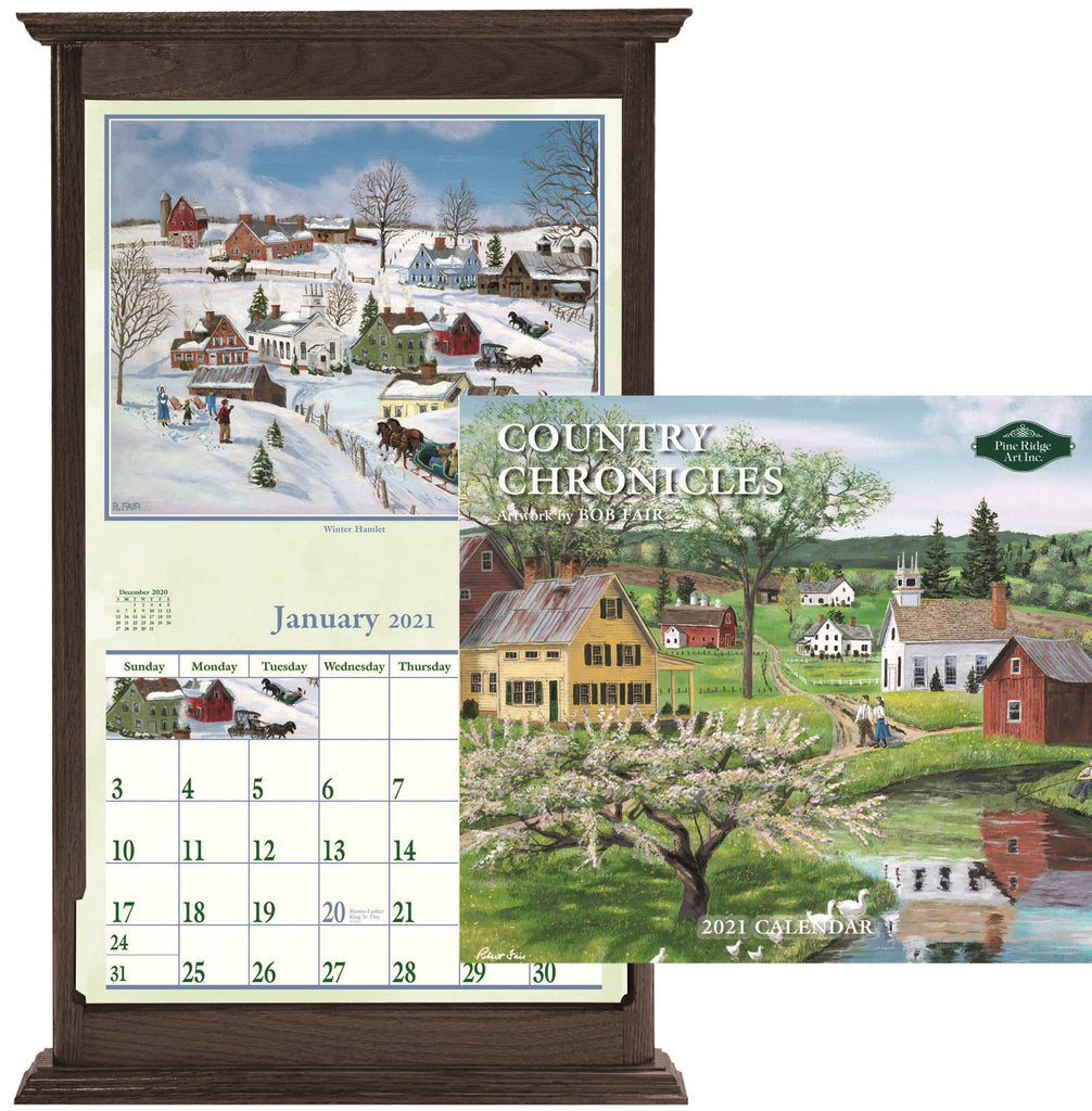 PINE RIDGE ART - CALENDRIER COUNTRY CHRONICLES 2021