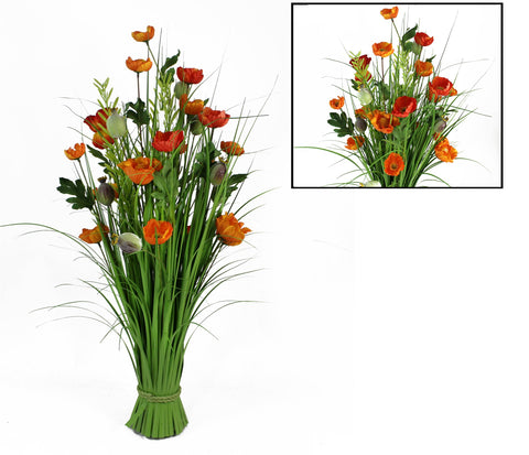 ARRANGEMENT FLORALE ARTIFICIEL  ROUGE