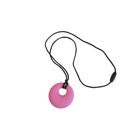 COLLIER MACHOUILLE CERCLE ROSE