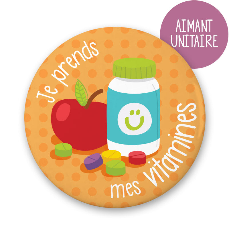 MINIMO - AIMANT JE PRENDS MES VITAMINES