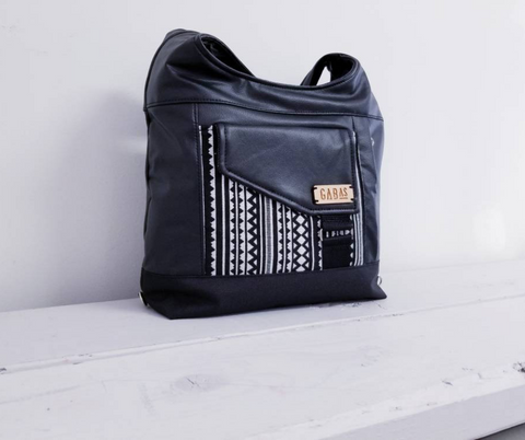 GABAS - SAC MAIN DEVILLE TRIBAL NOIR