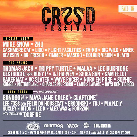 CRSSD Festival Lineup and News