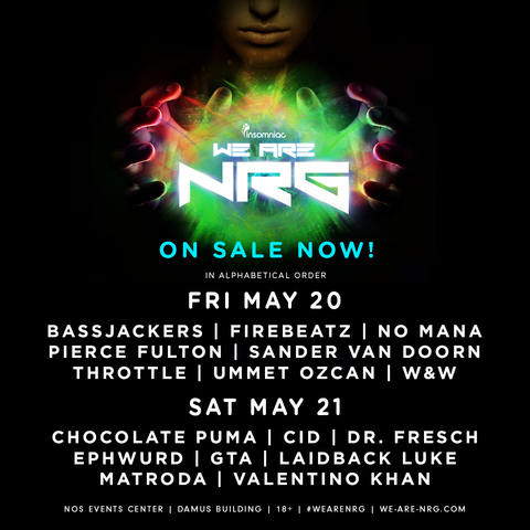We are NRG 2016 Lineup News