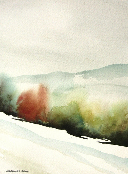 Late Winter Field - Original Watercolor Painting