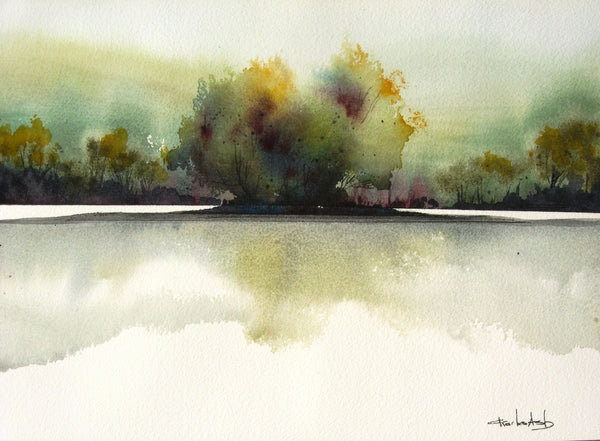 Lake Willows - Original Watercolor Painting