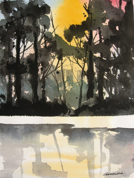 Bosque Morning - Original Watercolor Painting