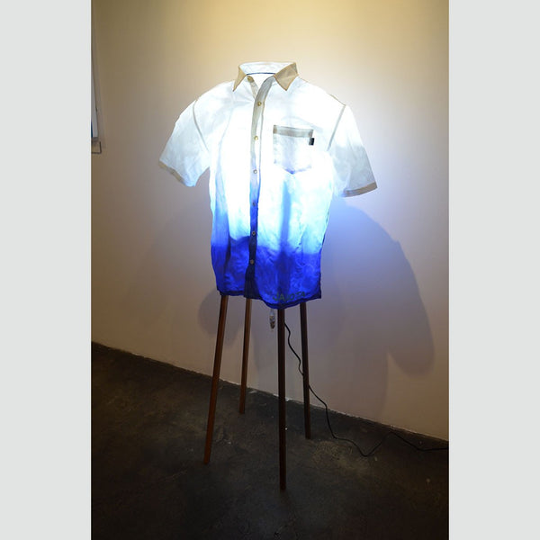 Hawaiian Shirt Lamp (Blue Surf)
