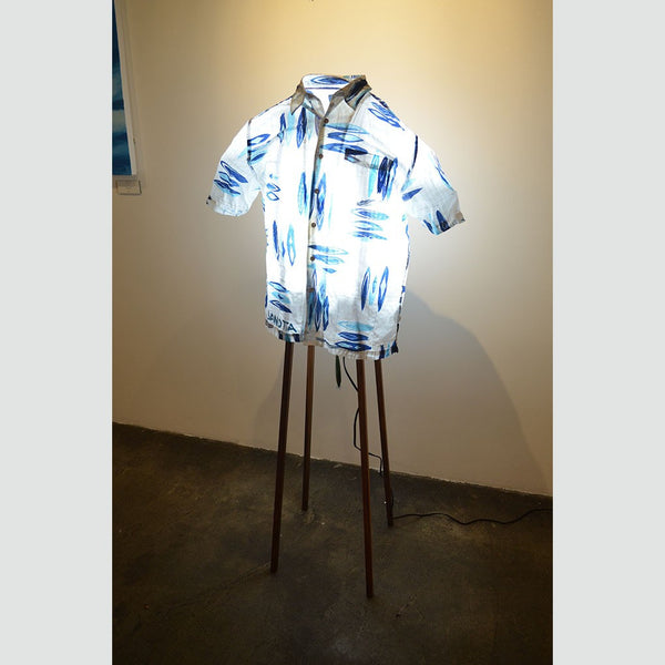 Hawaiian Shirt Lamp (Surfboard)