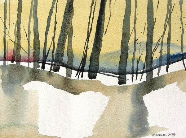Wilderness Dawn - Original Watercolor Painting