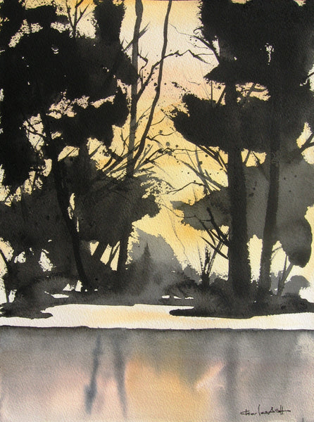 Woodland Glow - Original Watercolor Painting