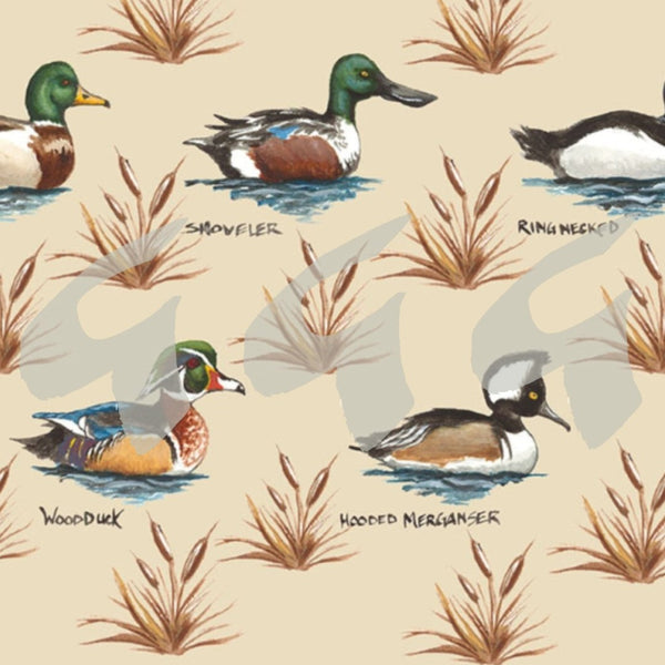 Wildlife Fabrics - Soldier Ducks