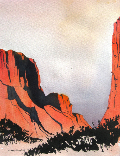 Diable Canyon Sunrise - Original Watercolor Painting