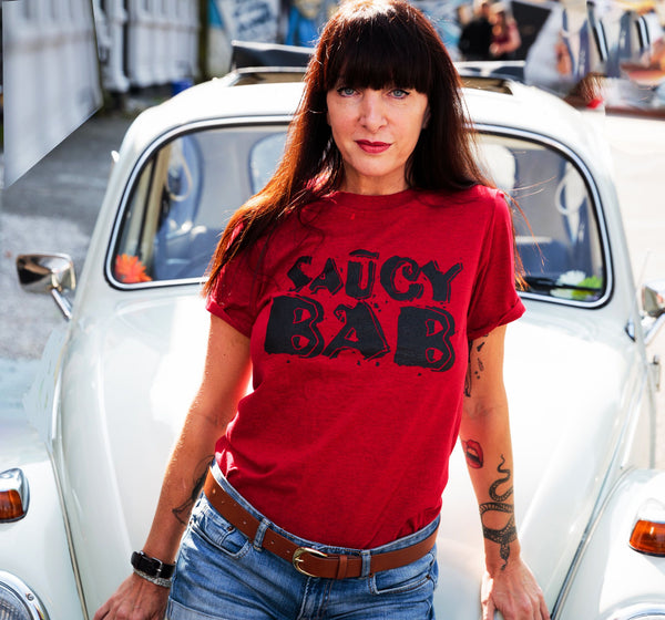 Saucy Bab  Short Sleeve T shirt  (Vintage Cherry)