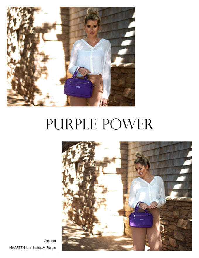 Beside-U Nutopia Leather Maarten Majesty Purple Satchel Bag purses fashion handbags designer bags Lookbook