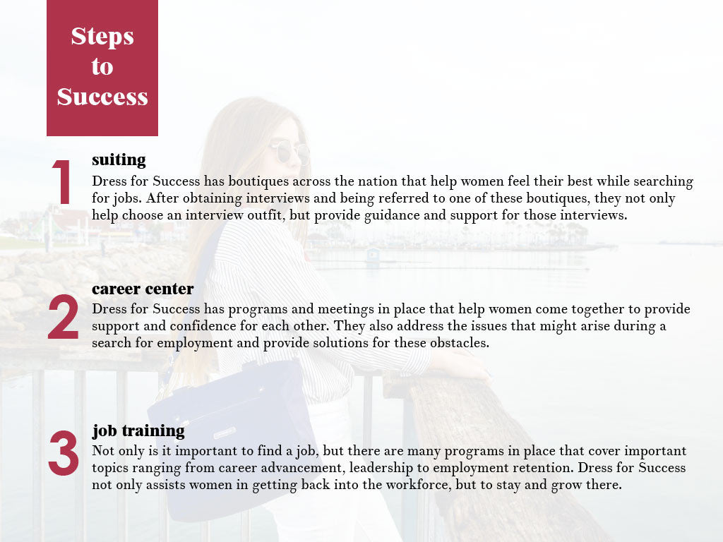 Beside-U Dress For Success Page 4 Steps to Success