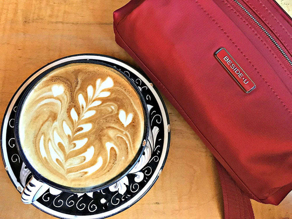Beside-U Coffee Hemet Crossbody Bag Jester Red