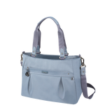 Satchel Handbag - Olive Satchel Bag Angled [Cool Blue]