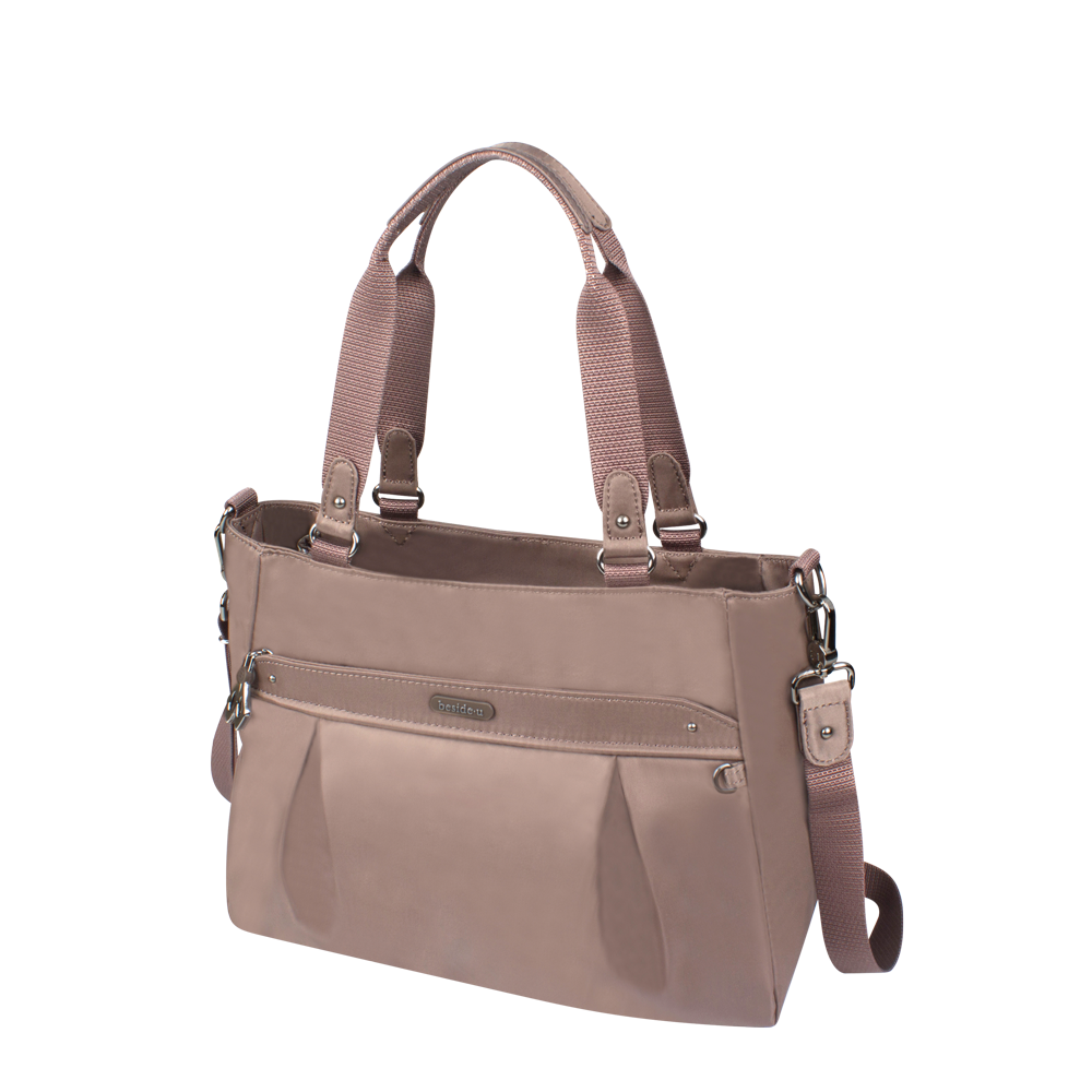 Satchel Handbag - Olive Satchel Bag Angled [Honey Brown]