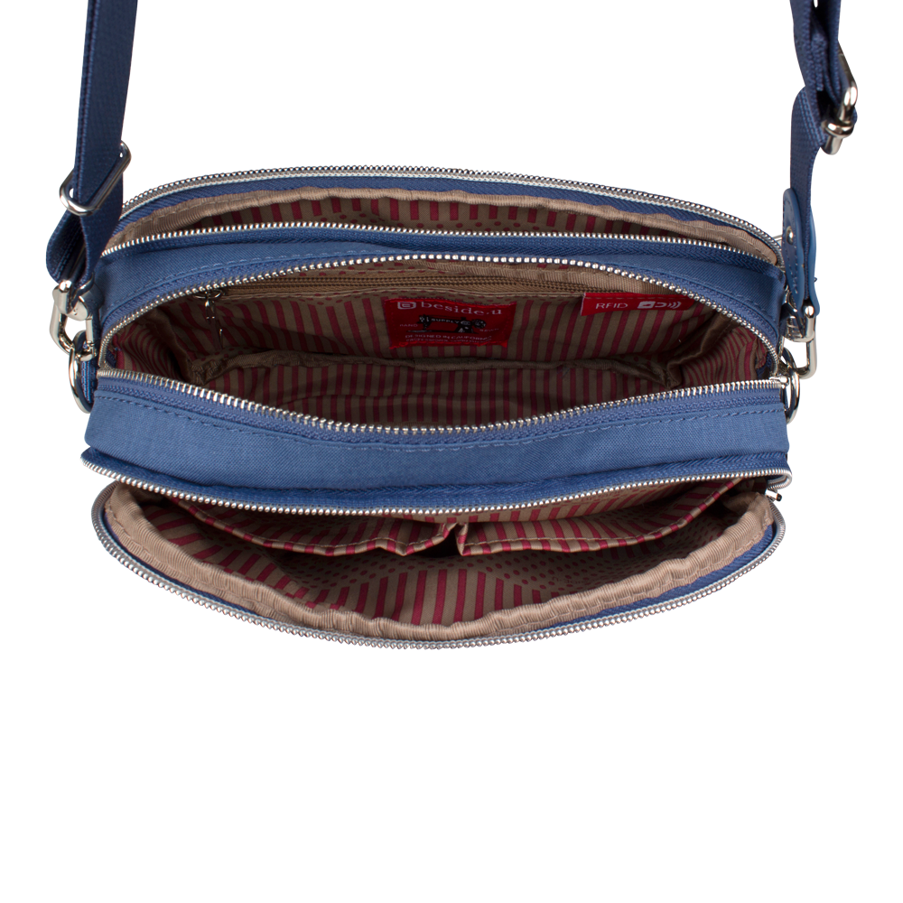 Crossbody Bag - Larrabee Crossbody Bag Inside Blue Frost