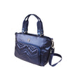 Satchel Handbag - Emory Satchel Bag Angled [Metallic Blue]