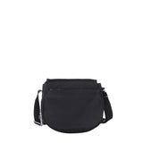 Crossbody Bag - Liv Debossed Crossbody Saddle Flap Bag Black Back [Black]
