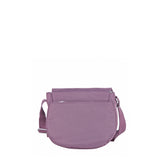 Crossbody Bag - Liv Debossed Crossbody Saddle Flap Bag Grapeade Purple Back [Grapeade Purple]