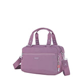 Paula Debossed Convertible Satchel Handbag Grapeade Purple Angled [Grapeade Purple]