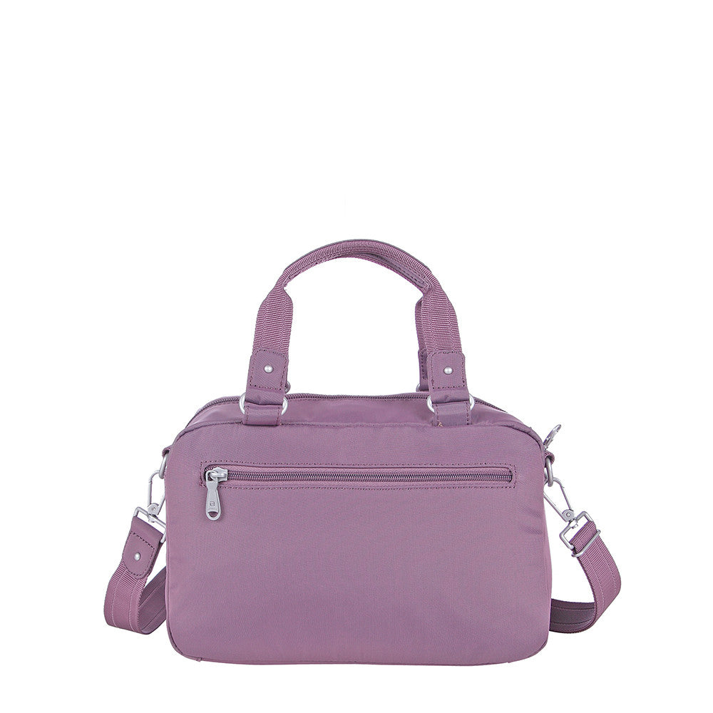 Paula Debossed Convertible Satchel Handbag Grapeade Purple Back [Grapeade Purple]
